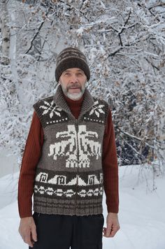 Ravelry: tintti's Dad's Cowichan inspired vest