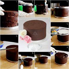 TartaFantasía: Bizcocho,vainilla o chocolate, especial para tartas fondant 3d Cakes, Cupcake Cakes, Savoury Baking, Different Cakes, Bakery Cakes, Cake Decorating Tutorials, Plated Desserts, Chocolate Ganache, Cake Cookies
