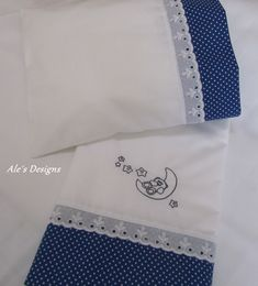 Baby Applique, Machine Applique, Machine Embroidery, Baby Pillow Set, Bird Embroidery, Embroidery Stitches, Baby Sheets, Baby Sewing, Baby Accessories
