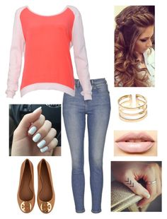 """Untitled #99"" by haileywwe on Polyvore featuring Topshop, Sandro, Tory Burch, LASplash, women's clothing, women's fashion, women, female, woman and misses"