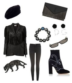 """""""Black Panther✊🏾😎"""" by natazia-cole on Polyvore featuring Yves Saint Laurent, Tommy Hilfiger, Dolce&Gabbana, Balenciaga and Valentino"""