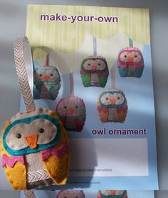 make your own owl ornament- owl baby shower