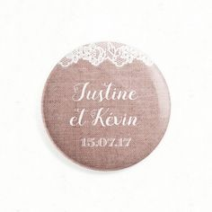 """Wedding magnet as save the date, thank you or gift - """"Lace and Linen"""", rural… Souvenir Ideas, Save The Date, Comme, Magnets, Dating, Paper, Gifts, Wedding, Thanksgiving Messages"""