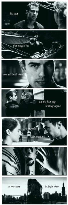 Tris and Four Divergent Memes, Divergent Hunger Games, Divergent Fandom, Divergent Trilogy, Tris Und Four, Tris And Tobias, Tris Et Quatre, Divergent Insurgent Allegiant, Insurgent Quotes