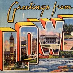 Fabulous large letter postcard wishing the recipient greetings from #Lowell, Massachusetts. Each letter features a different city architectural landmark of the era. Perfect framed as gift for a new #UML graduate or freshman!