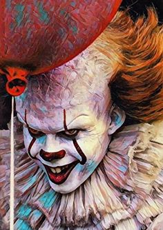"""""""Pennywise"""" 300 piece jigsaw puzzle size - Buy Online in UAE. Diamond Drawing, 5d Diamond Painting, Diamond Art, Pennywise The Clown, Horror Show, Horror Art, Evil Clowns, Movie Poster Art, Diy Wall Art"""