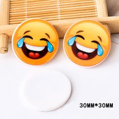 50pcs/lot Japan Kawaii Emoji Flatback Resin Smile Face With Tears Planar Resin DIY Craft for Home Decoration Accessories DL-640