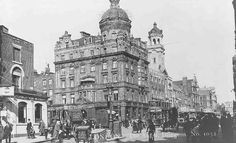 The Angel intersection, c.1919, showing west side of Islington High Street with tower of Angel Cinema