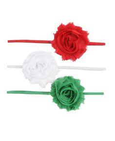 RuffleButts Holiday Zoey 3-Pc Headband Set  www.milibaby.hu