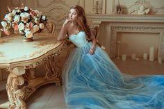 Bohemian Wedding Dress / Two Piece Wedding Dress / Corset Sky | Etsy Two Piece Wedding Dress, Wedding Skirt, Blue Wedding Dresses, Bohemian Wedding Dresses, Tulle Wedding, Blue Dresses, Wedding Gowns, Summer Dresses, White Corset Dress