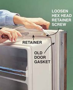 How to Replace a Refrigerator Door Gasket ♥home repair DIY www.homerepairexpert.com