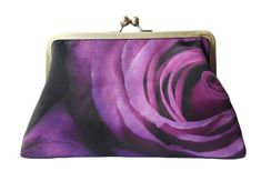 Your place to buy and sell all things handmade Floral Clutch Bags, Floral Clutches, Purple Roses, Silver Roses, Gifts For Women, Gifts For Her, Handmade Clutch, Wedding Gifts For Bridesmaids, Sewing Blogs