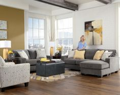 Boston Interiors - Marshall 3-pc Sectional With Chaise   Living ...