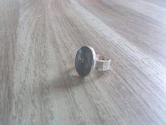 zilveren ring met mos agaat