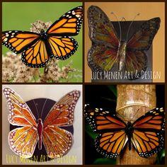 Podría decir que labrar mariposas en aluminio, y luego pintarlas me brinda tranquilidad. Es como una terapia para mi, lo disfruto plenamente.
