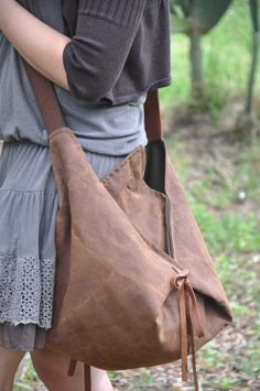 Hobo, across body bag in stonewashed canvas with leather details