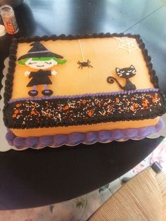 cute halloween sheet cake - Easy To Make Halloween Cakes