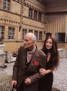 Balthus with his daughter Harumi at Rossinière, 2000, by Bruno Barney