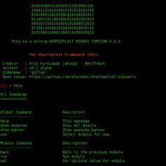 The ShareSploit Framework (SSF) v0.1 alpha.