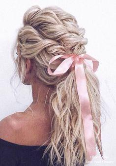 Wedding Hairstyles Inspiration : Ulyana Aster Long Bridal Hairstyles for Wedding #weddings #hairstyles #fashion # #weddinghairstyles