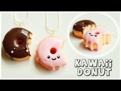 Kawaii Donut Polymer Clay Charm Tutorial