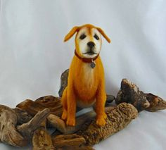 Dog - Needle Felted Animal Sculpture