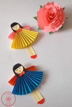 Attractive craft ideas for kids - Basteln für Kinder Diy Crafts For Gifts, Paper Crafts For Kids, Craft Activities For Kids, Creative Crafts, Preschool Crafts, Diy For Kids, Easy Crafts, Craft Ideas, Creative Ideas For Kids