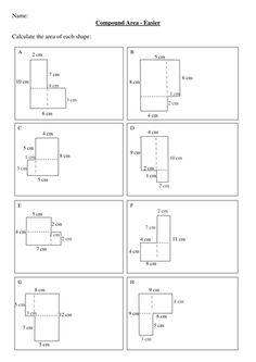 maths worksheets and ideas maths ks ks compound areas worksheet