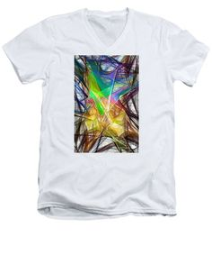 Men's V-Neck T-Shirt - Abstract 9618