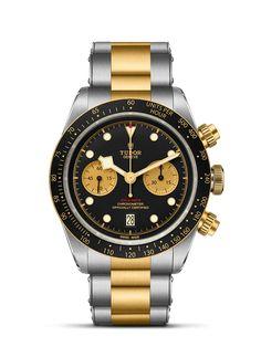 Loving the Tudor Black Bay Chrono S&G in steel and gold. Tudor Black Bay, Rolex Daytona, Sport Chic, Black Bracelets, Metal Bracelets, Sport Watches, Watches For Men, Dream Watches, Die Tudors