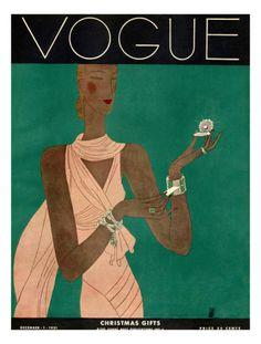 Vogue Cover - December 1931 Giclee Print by Eduardo Garcia Benito #laylagrayce #pantone #coloroftheyear2013