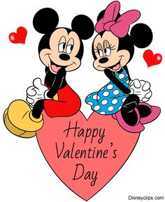 Valentine's Day themed images of Disney's Winnie the Pooh, Piglet, Eeyore and Tigger. Minnie Mouse Stickers, Mickey Mouse Wallpaper, Mickey Mouse Cartoon, Mickey Mouse And Friends, Disney Wallpaper, Disney Valentines, Happy Valentines Day Images, Mickey And Minnie Kissing, Mickey Minnie Mouse