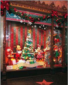 Christmas on Main Street  in the Magic Kingdom, at Disneyland.