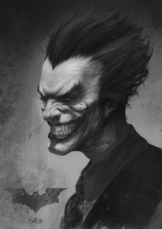 Joker Len Len Digital Art Character Games Joker Movies & TV Paintings & Airbrushing Villain