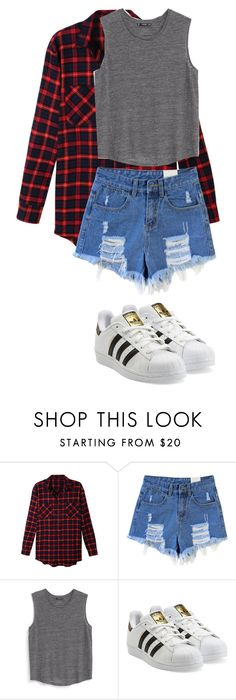 """clothing for MNB"" by kijannakap on Polyvore featuring LE3NO, MANGO and adidas Originals"
