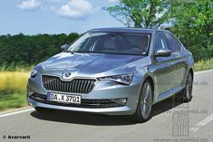 2018 Skoda Superb (facelift) front & rear rendered by German media. Skoda Superb facelift to get revised nose with triangular headlamps, and other updates. Skoda Superb, German, Vehicles, Car, Deutsch, Automobile, German Language, Autos, Vehicle