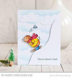 Stamps: Ski-sons Greetings  Die-namics: Ski-sons Greetings, Cloud 9, Snow Drifts  Anna Kossakovskaya  #mftstamps