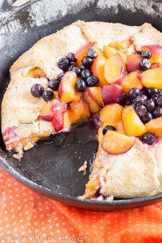 Peach-Blueberry Almond Crostata