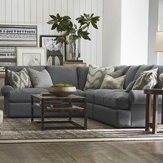 Casual Gray L-Shaped Sectional