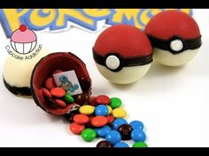 Candy Pokeballs! Make Edible Pokemon Pokeballs - Learn how to make these delicious treats, and heaps more at Mycupcakeaddiction!