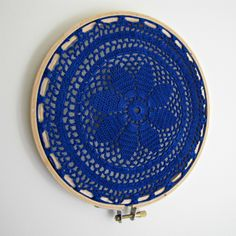 The Haby Goddess: 10 Minute Craft: Dyed Doily Embroidery Hoop