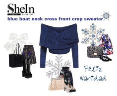 """""""2015aw shein.blue.sweater"""" by vaughnroyal ❤ liked on Polyvore featuring Liz Claiborne, Dot & Bo and Bling Jewelry"""