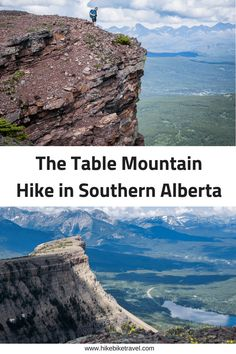 Alberta's Fabulous Table Mountain Hike – Hike Bike Travel Alberta's Fabulous Table Mountain Hike in southern Alberta offers a big WOW factor & it only takes 90 min – 2 hr to be on top Voyage Canada, Alberta Travel, Hiking Training, Canadian Travel, Canadian Rockies, Table Mountain, Mountain Hiking, Hiking Tips, Backpacker