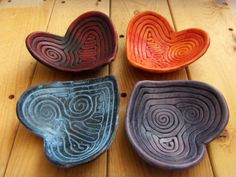 HeartShaped Ring Holder or Ring Dish  Handmade by ClayfulStudio, $11.50 Heart Shaped Rings, Ring Dish, Spoon Rest, Heart Shapes, Serving Bowls, Ring Holders, Pottery, Unique Jewelry, Tableware