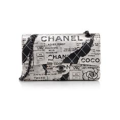 Pre-Owned Chanel Hand Painted Lambskin Classic Medium Flap Bag ($4,680) ❤ liked on Polyvore featuring bags, handbags, chanel, black, logo bags, chanel handbags, lamb leather purse, lambskin leather handbags and pre owned purses
