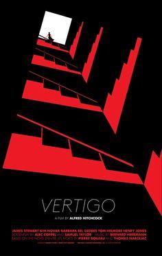 Vertigo Poster, Vertigo Movie, Graphic Design Posters, Graphic Design Illustration, Graphic Design Inspiration, Mc Bess, Posters Conception Graphique, Buch Design, City Gallery