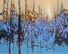 Landscape Paintings by David Lidbetter Abstract Tree Painting, Abstract Oil, Oil Painting On Canvas, Abstract Expressionism, Landscape Artwork, Abstract Landscape, Paintings I Love, Tree Paintings, Winter Art