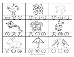 ***FREE*** 2 printables with 18 pictures in b/w with a SPRING theme. Stamp or color the correct beginning or initial sound. Go over the vocabulary before the child begins, to be sure the pictures are understood.