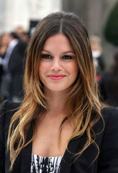 Long Brown Hair With Highlights | Hair 2013: Rachel Bilson Long, Center Parted, Straight Ombre Hair ...