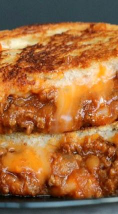 Sloppy Joe Grilled Cheese! Oh my goodness! When I'm done with this darn fix, this is my first meal!!!!